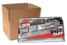 Sunshield Silver / Black Poly Tarps - CASE LOTS